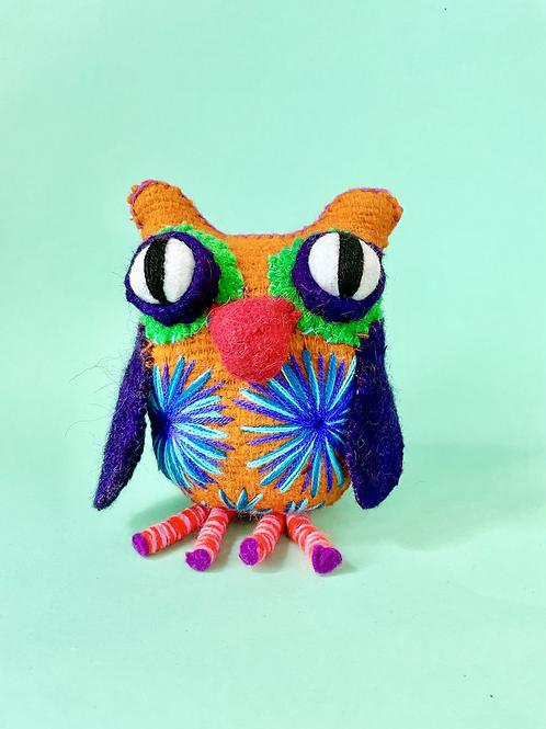 Handmade wool owl