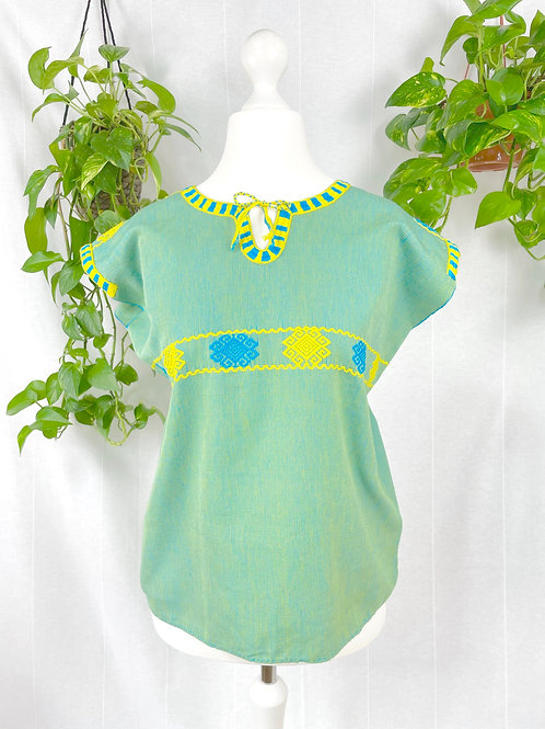 Aldama blouse - Green and yellow