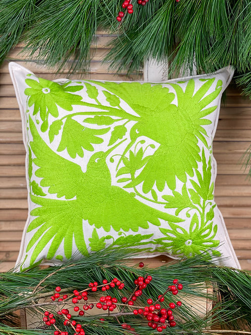 Otomi cushion cover - Lime green