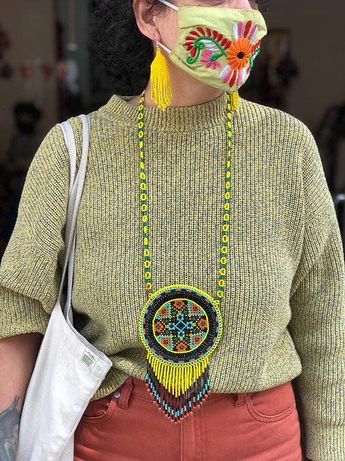Mandala - Huichol necklace large size