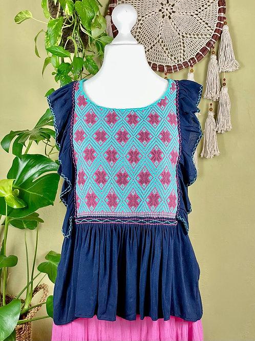 Lidia blouse navy blue - Medium