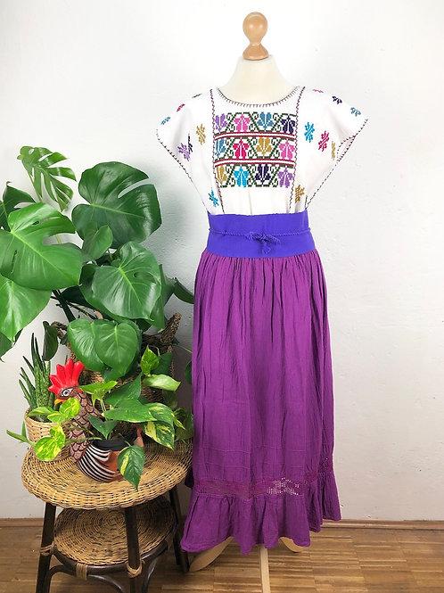 Quadrille blouse and gauze skirt - Iris