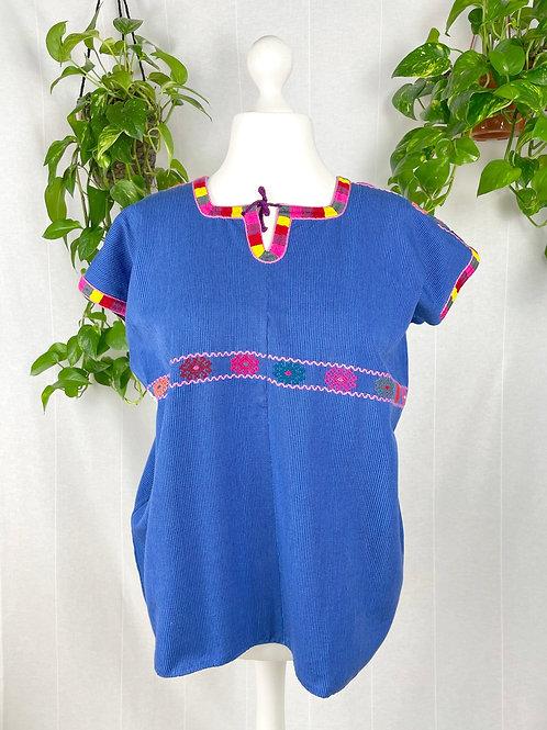 Aldama blouse - Blue with multicolor