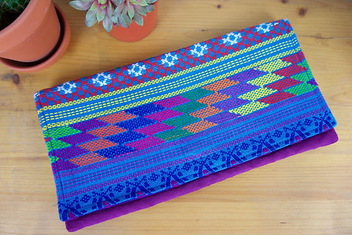 Colorful/ Purple Chiapas clutch bag