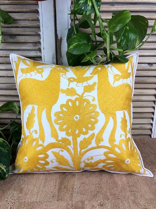 Otomi cushion cover - Yellow