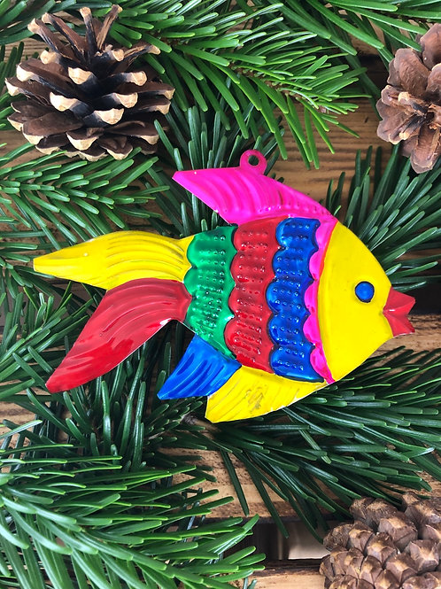 Fish - Christmas Tree Tin ornament
