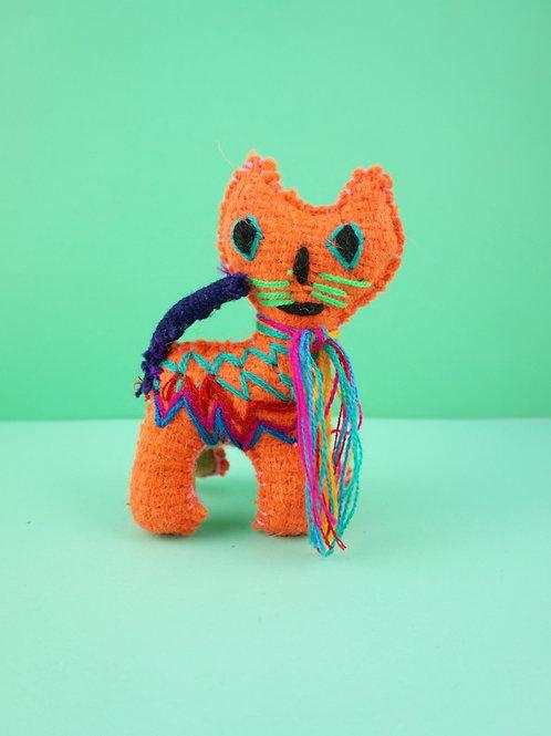 Handmade wool cat - Mini