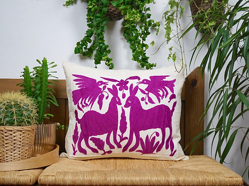 Purple Otomi pillow cover - Pradera