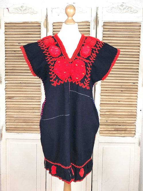 Chenalhó dress navy blue