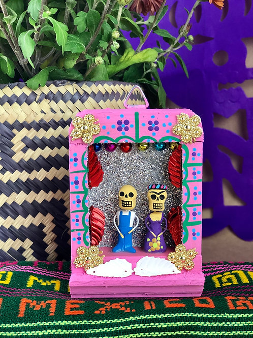 Frida y Diego Wood Niche