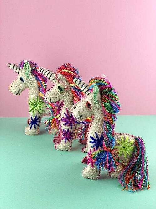 Handmade wool unicorn - Medium size