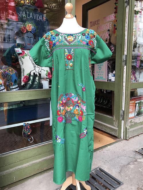 Green Puebla dress - Medium