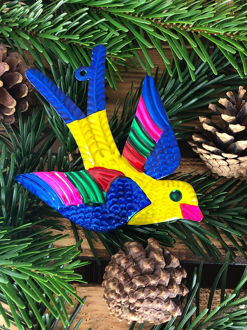 Yellow Swallow - Christmas Tree Tin ornament