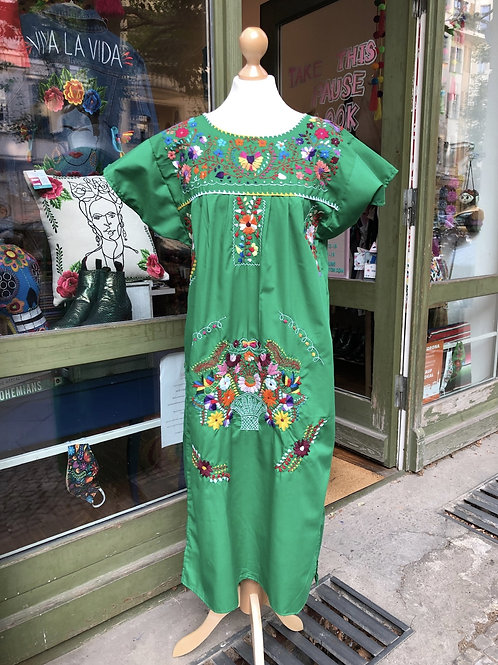 Green Puebla dress - Medium