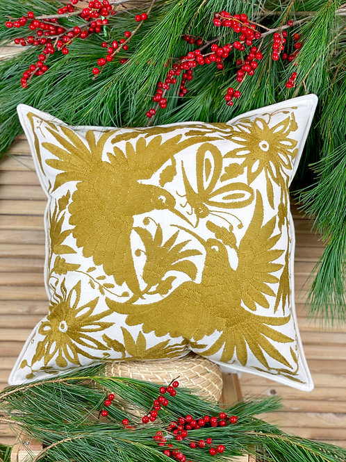 Otomi cushion cover - Ocher