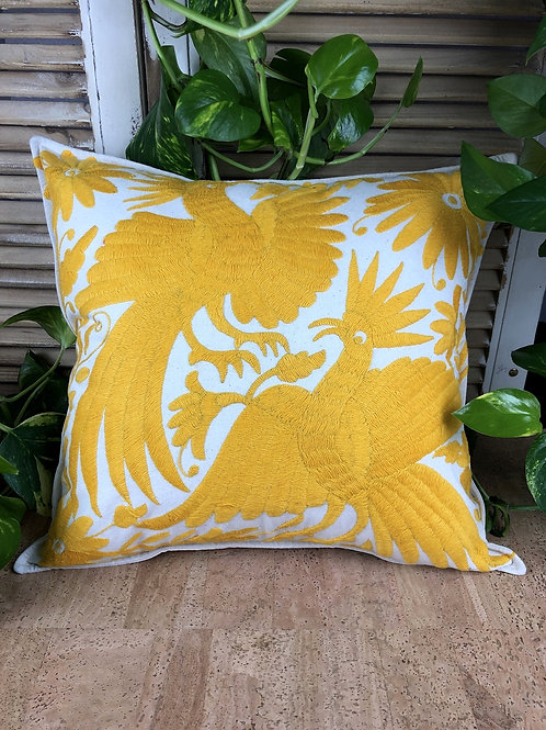 Otomi cushion cover - Yellow