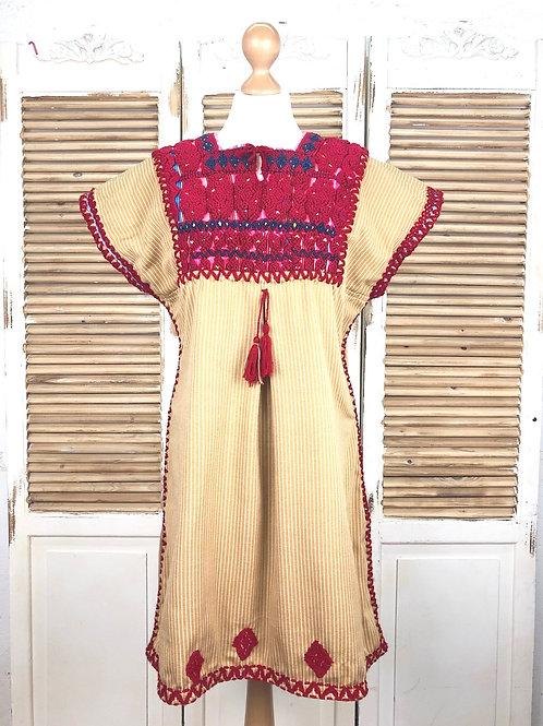Chenalhó dress mustard