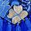 Thumbnail: Las Flores clutch bag - Azul 3
