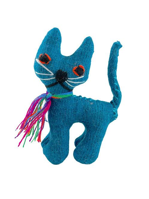 Handmade wool cats
