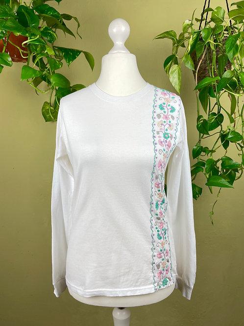 Tehuacan flowers long sleeve t-shirt / Medium size