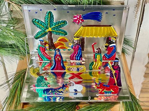 Nativity scene - Tin ornament
