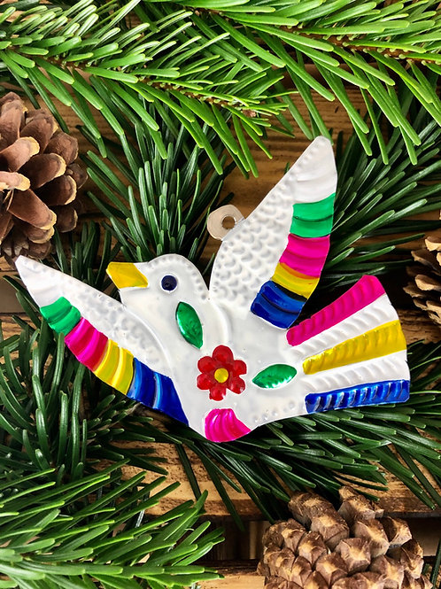 Peace Dove - Christmas Tree Tin ornament