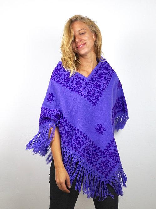 Quexquemitl - Purple rain