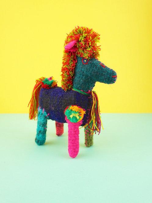Handmade wool horse
