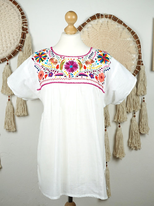 L / Tehuacan blouse - White and multicolor
