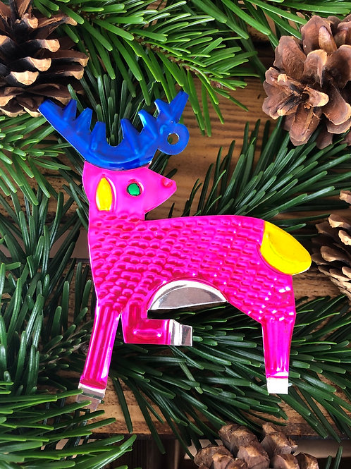 Reindeer - Christmas Tree Tin ornament