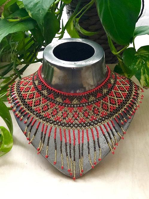 Beaded Huichol necklace - Xiomara
