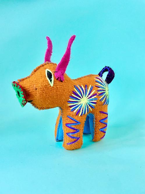 Handmade wool pig