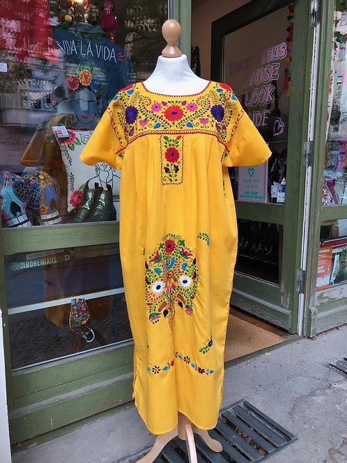 Yellow Puebla dress - Large/ XL