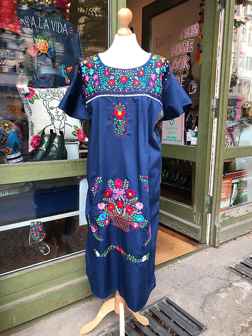 Navy Blue Puebla dress - Large/XL