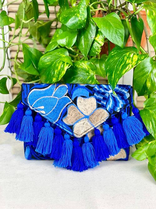 Las Flores clutch bag - Azul 3