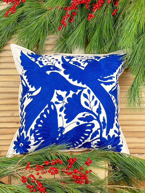 Otomi cushion cover - Royal blue