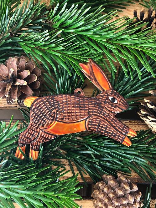Rabbit - Christmas Tree Tin ornament