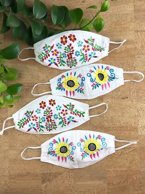 Girasol y Florecitas Tehuacan - Face mask