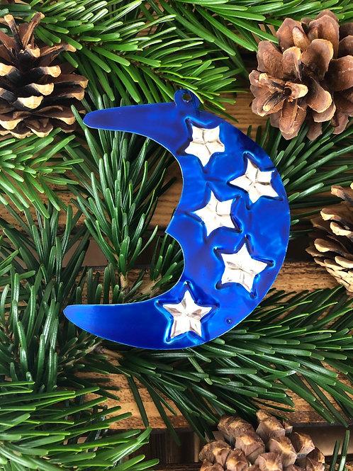Moon - Christmas Tree Tin ornament