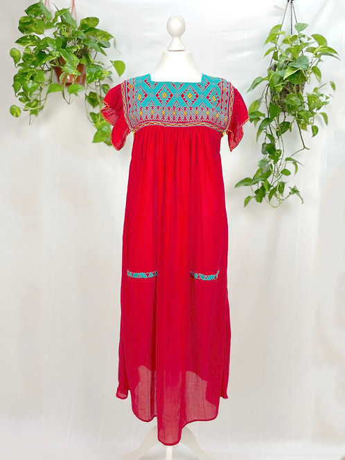 Red long dress Andrea - One size fits all