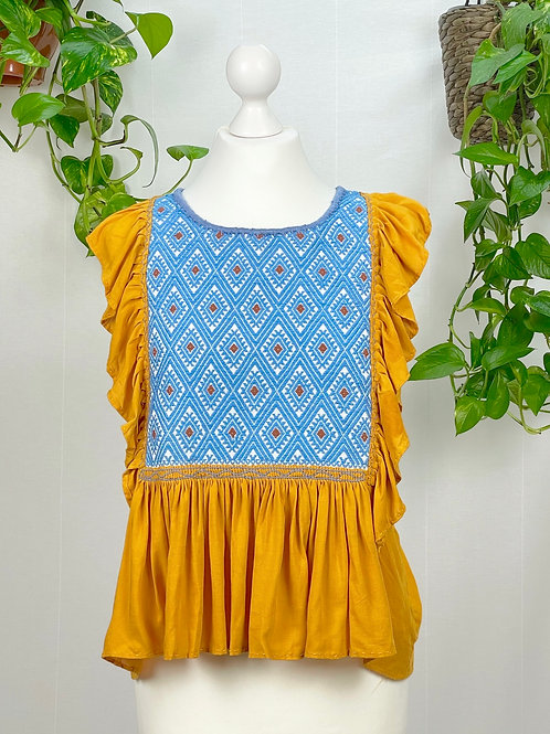 Lidia blouse mustard - Small