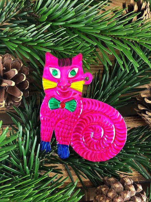 Cat - Christmas Tree Tin ornament
