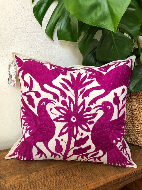 Otomi purple pillow cover