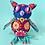 Thumbnail: Hand embroidered felt owl