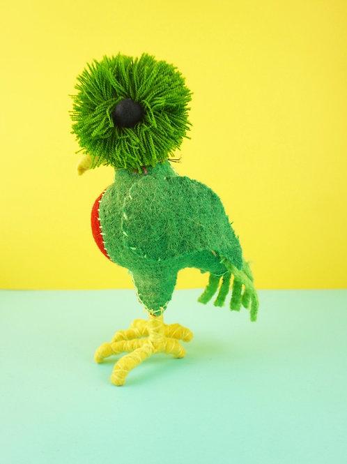 Handmade wool Quetzal bird