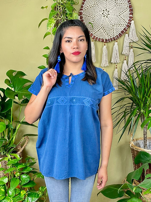 Aldama blouse - Deep blue
