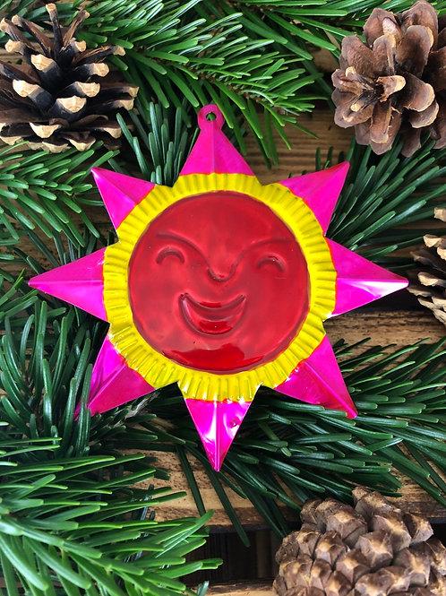 Sun - Christmas Tree Tin ornament