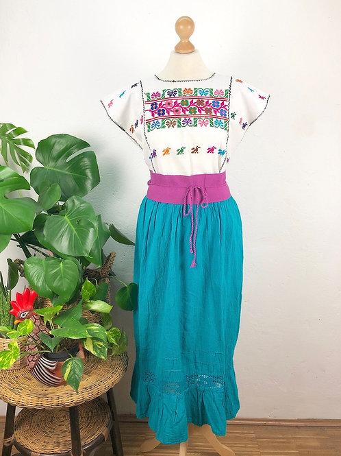 Quadrille blouse and gauze skirt  - Camelia