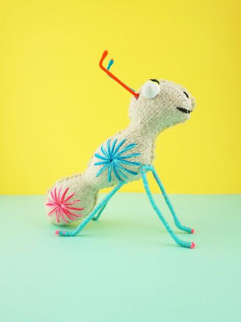 Handmade wool ant