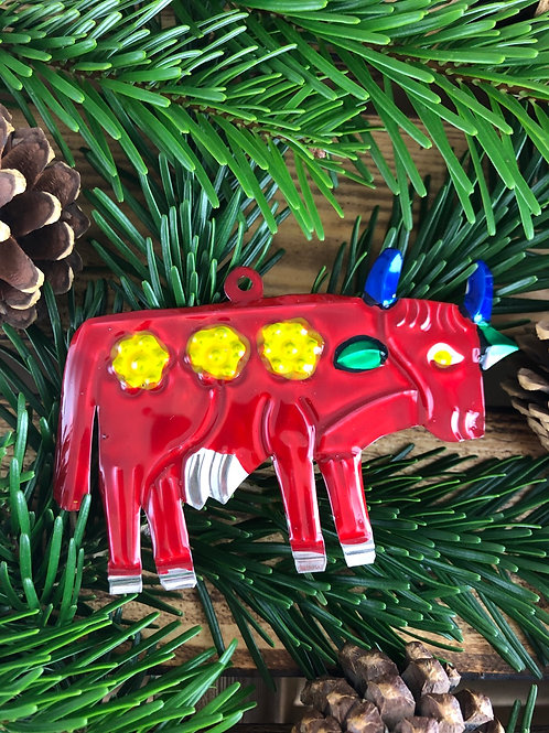 Cow - Christmas Tree Tin ornament